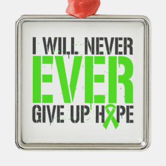El linfoma I dará nunca nunca para arriba Ornamentos De Navidad