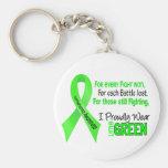 El linfoma I lleva orgulloso la verde lima 1 Llavero Personalizado