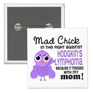 El linfoma/la enfermedad del polluelo 2 de Hodgkin Pin Cuadrado