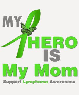 El linfoma mi héroe es mi mamá camiseta