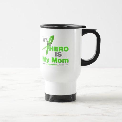 El linfoma mi héroe es mi mamá taza de viaje de acero inoxidable