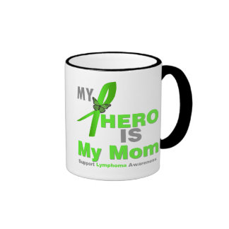El linfoma mi héroe es mi mamá taza de dos colores