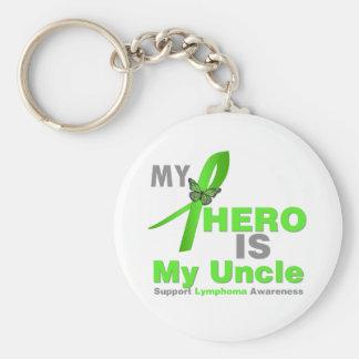 El linfoma mi héroe es mi tío llavero personalizado