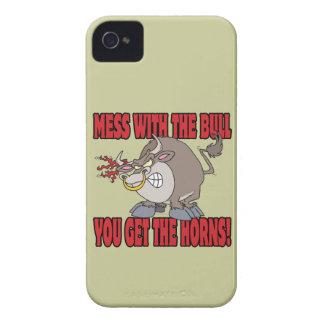 el lío con el toro consigue a cuernos la actitud Case-Mate iPhone 4 fundas