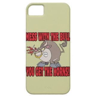 el lío con el toro consigue a cuernos la actitud funda para iPhone 5 barely there