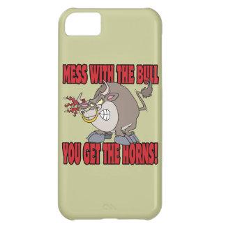 el lío con el toro consigue a cuernos la actitud T Funda Para iPhone 5C