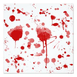 """El lío sangriento gotea el color de encargo BG de Invitación 5.25"""" X 5.25"""""""