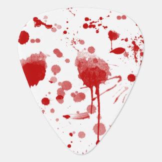El lío sangriento gotea el color de encargo BG de Púa De Guitarra