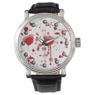 El lío sangriento gotea el color de encargo BG de Relojes De Pulsera