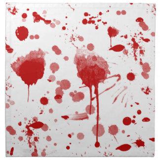 El lío sangriento gotea el color de encargo BG de Servilletas