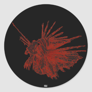 El Lionfish 2 Pegatina Redonda