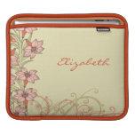 El lirio anaranjado personalizado del oro florece  manga de iPad