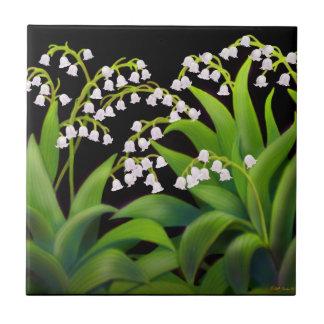 El lirio de los valles del jardín de la primavera azulejo cuadrado pequeño