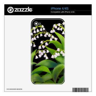 El lirio de los valles florece la piel de Zazzle iPhone 4S Skin