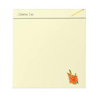 el lirio de oro florece la libreta libreta para notas