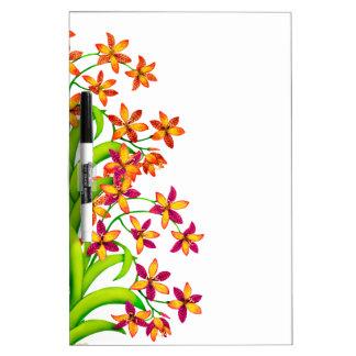El lirio del caramelo del jardín florece al tabler tablero blanco