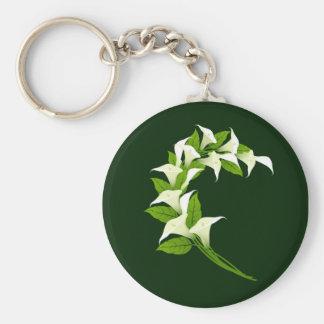 El lirio florece el dg llavero redondo tipo pin