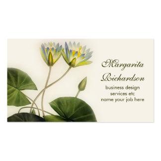 el lirio florece la tarjeta de visita
