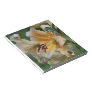 El lirio florece libreta libretas para notas