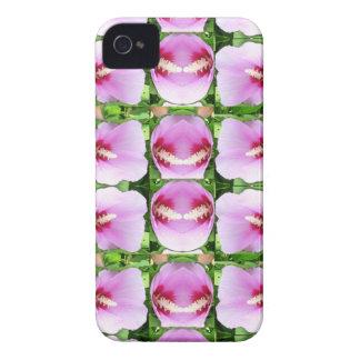 El lirio rosado SONRIENTE de Lilly florece a iPhone 4 Protector