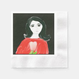 El lirio servilleta de papel