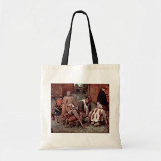 El lisiado por Bruegel D. Ä. Pieter (la mejor cali Bolsas De Mano