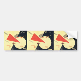 El Lissitzky- Beat the Whites with the Red Wedge Bumper Stickers