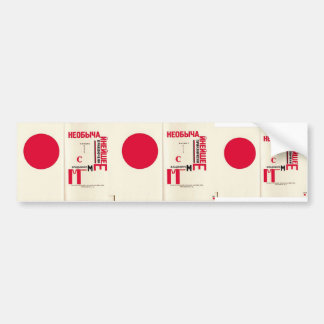 El Lissitzky- Illustration to 'For the voice' Bumper Stickers