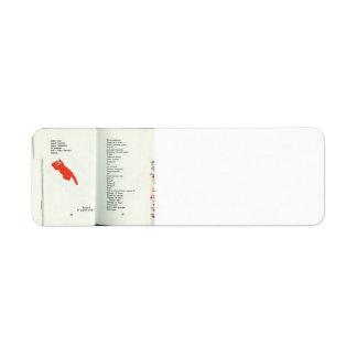 El Lissitzky- Illustration to 'For the voice' Custom Return Address Labels