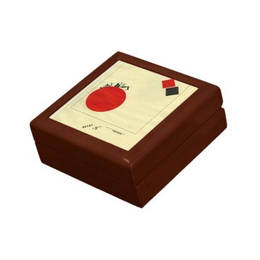 EL Lissitzky- que vuela a la tierra de una distanc Caja De Joyas
