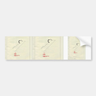 El Lissitzky- Suprematic tale about two squares Bumper Sticker