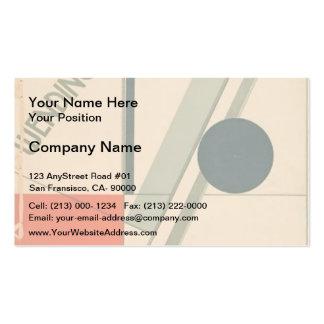 El Lissitzky- Wendingen Business Card Template