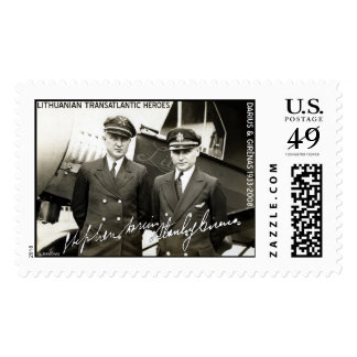 El Lithuanian pilota Darius y Girenas Franqueo