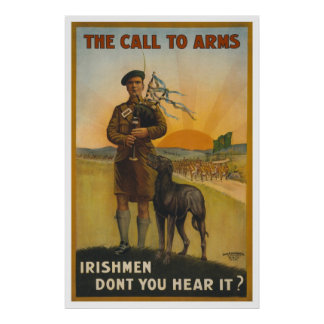 El llamamiento a las armas, guerra mundial irlande impresiones