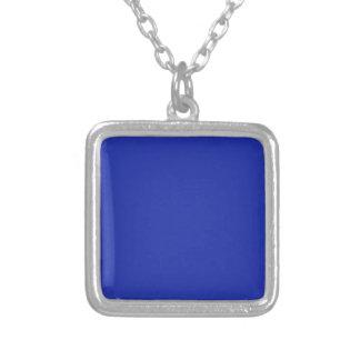 El llano en blanco azul DIY añade imagen de la Colgante Cuadrado