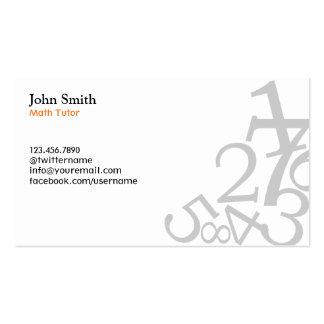El llano numera tarjetas de visita del profesor pa