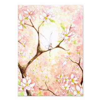 """El llano rosado de la opinión del flor invita invitación 5"""" x 7"""""""
