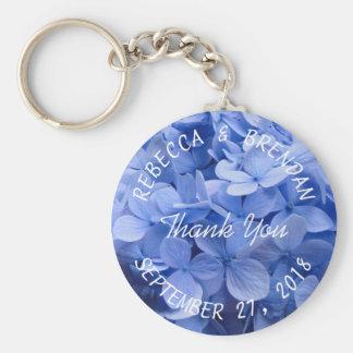El llavero azul del boda del Hydrangea suena