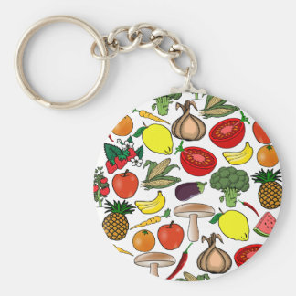 El llavero de las frutas y de los Veggies, elige e