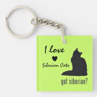 El llavero de los amantes siberianos del gato
