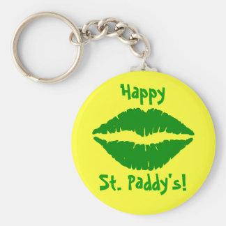 El llavero de St Patrick verde del beso