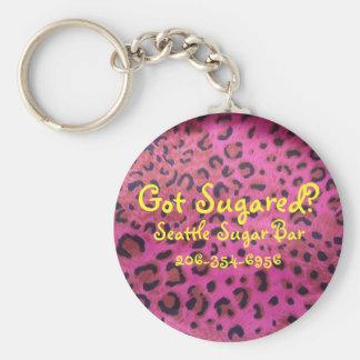 ¿El llavero rosado de la impresión de Leapard cons