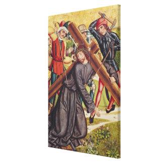 El llevar de la cruz lienzo envuelto para galerías
