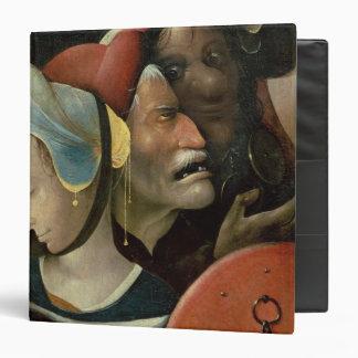 El llevar de la cruz que muestra tres caras