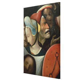 El llevar de la cruz que muestra tres caras lona envuelta para galerías