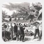 El llevar del herido después del Antietam Pegatinas