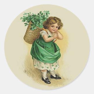 El llevar del verde pegatinas redondas