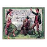 El llevar del vintage de la tarjeta del día del St Postales