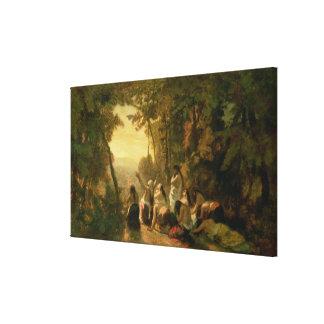 El llorar de la hija de Jephthah, 1846 Impresiones En Lona Estiradas
