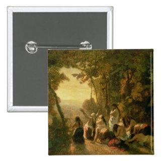 El llorar de la hija de Jephthah, 1846 Pin Cuadrada 5 Cm